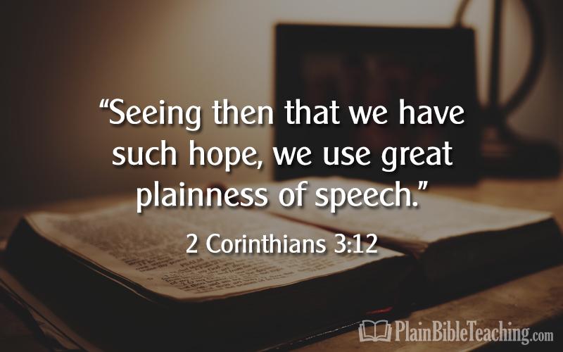2 Corinthians 3:12