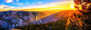 Sunrise over the mountains