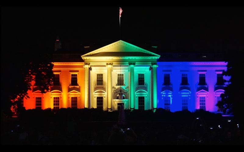 White House - rainbow colors
