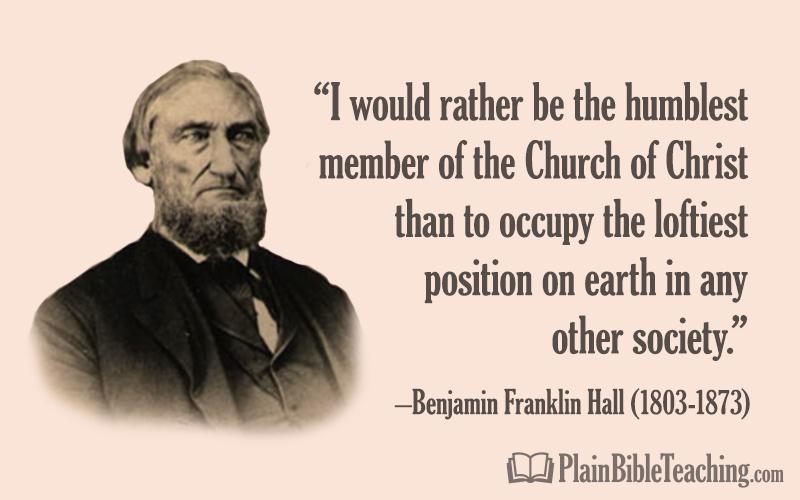 B.F. Hall: Choosing Truth Over an Education