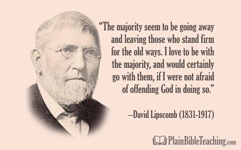 "David Lipscomb: ""The Majority Seem to Be Going Away"""