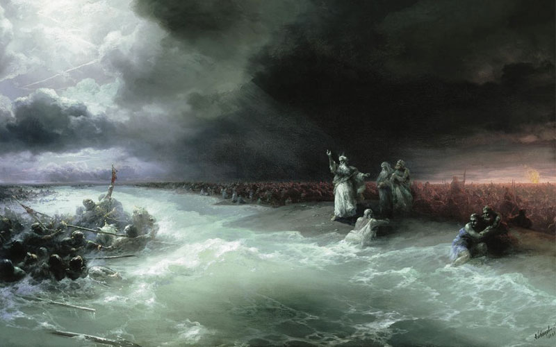Passage of the Jews through the Red Sea - Aivazovsky
