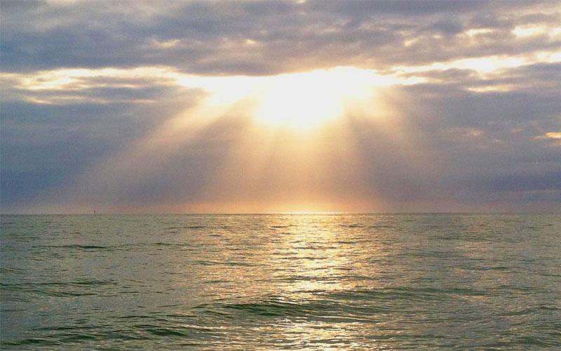 Sunlight on the ocean