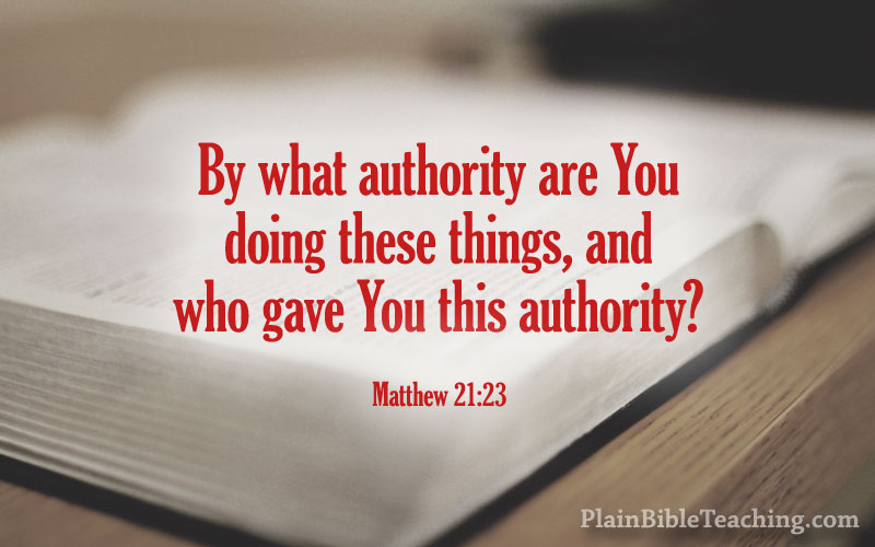 Matthew 21:23