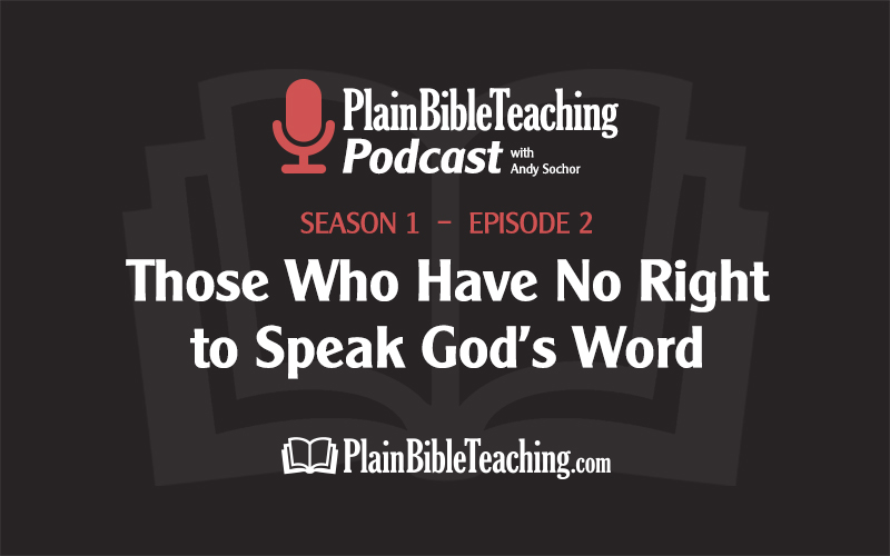 Those Who Have No Right to Speak God's Word (Season 1, Episode 2)