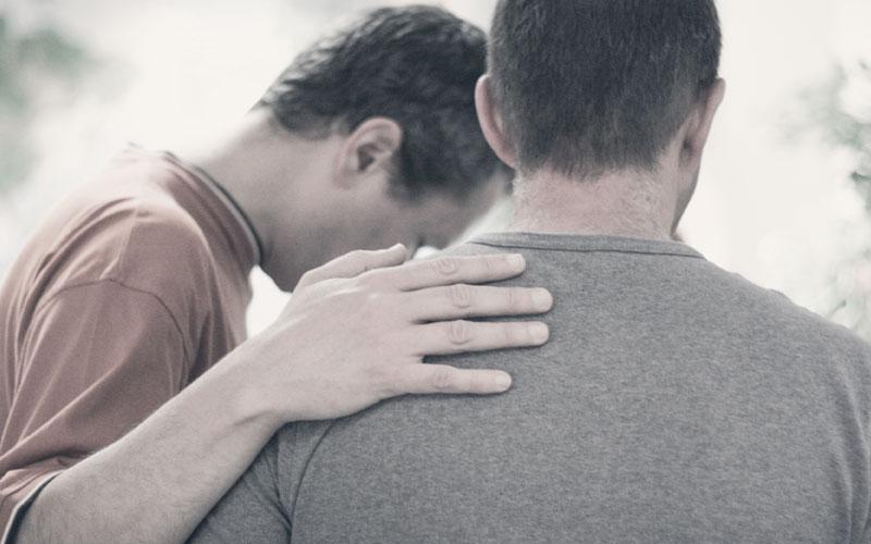 Two Men Praying
