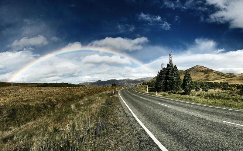 Road and Rainbow