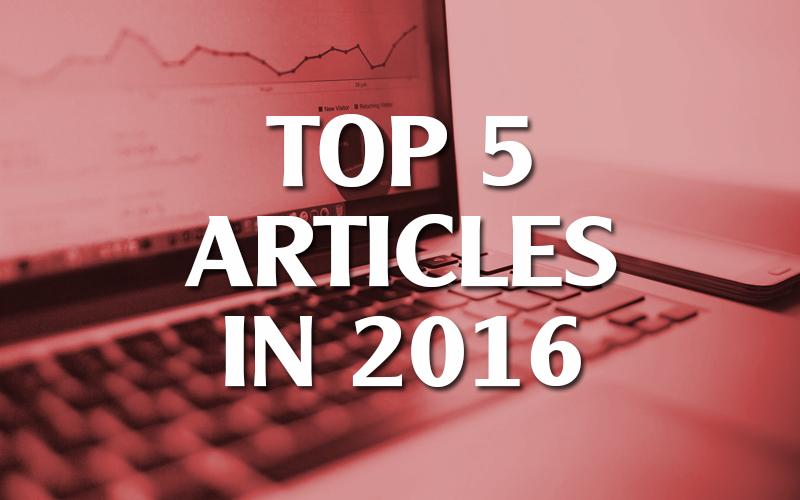 Top 5 Articles in 2016