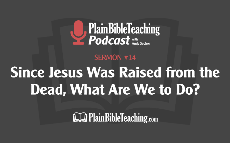 Since Jesus Was Raised from the Dead, What Are We to Do? (Sermon #14)