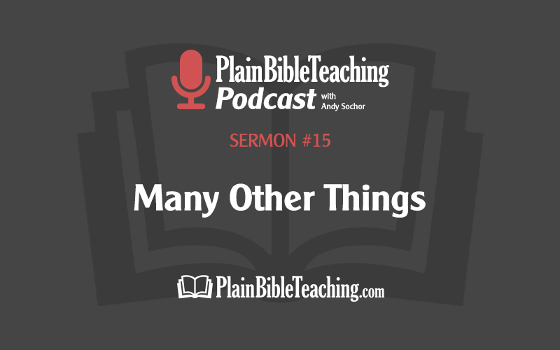 Many Other Things (Sermon #15)