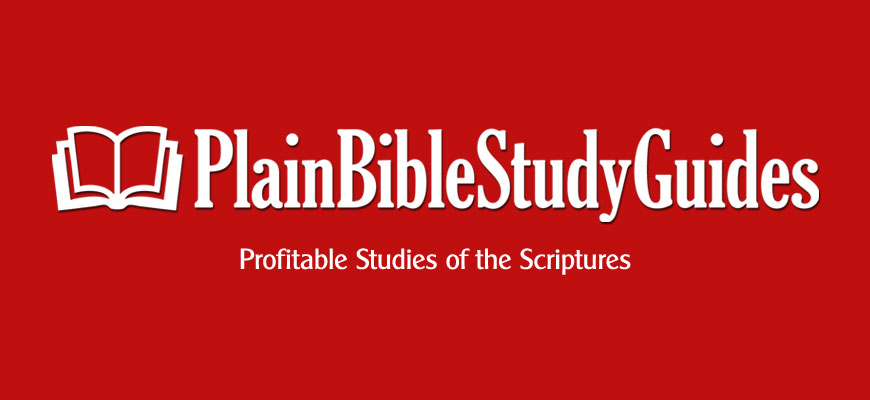 Plain Bible Study Guides