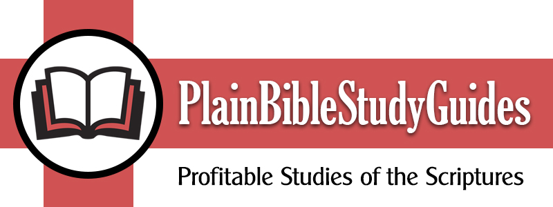 Plain Bible Study Guides